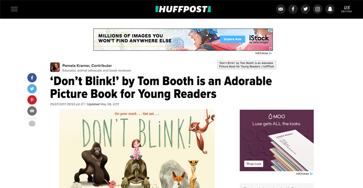 Thank you, Huffington Post! – Tom Booth